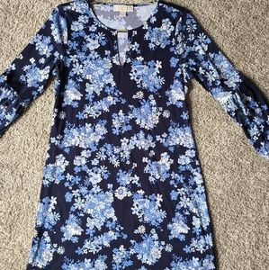 Michael Kors Blue Floral Dress
